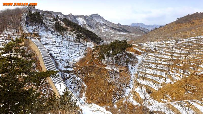 دیوار بزرگ چین در زمستان