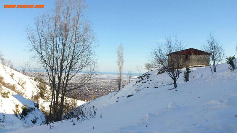 منظره لنگرود از اته کوه