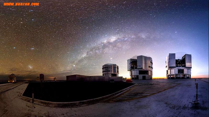"""نمای پاناروما از """"رصدخانه جنوبی اروپا"""" در شمال شیلی"""