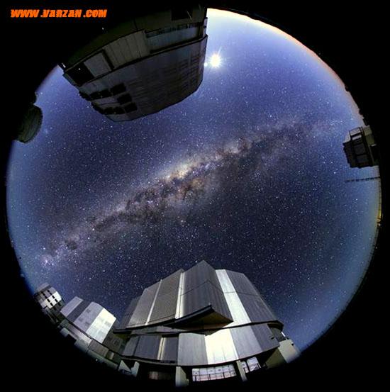 اولین تصویر باکیفیت از چهار واحد تلسکوپ