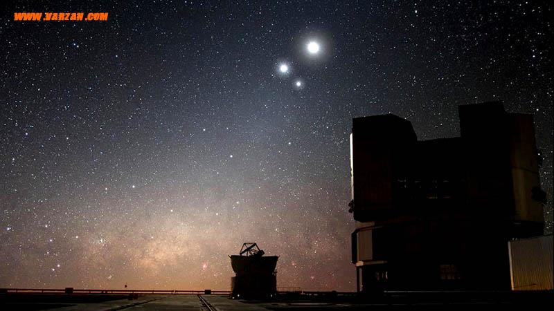 """بالای """"تلسکوپ بسیار بزرگ"""" در رصدخانه """"پارانال"""""""