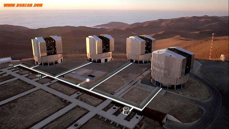 تصویر هوایی از سکوی بالای رصدخانه پارانال