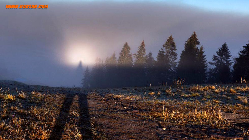 بروکن اسپکتر در تپه های نروژ