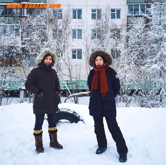 ساکنین یاکوتسک روسیه، به خوبی خود را در زمستان بی رحم پوشانیده اند.