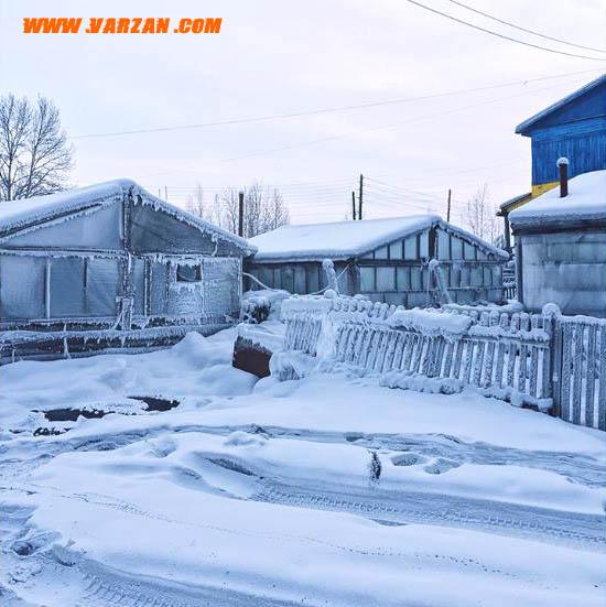 شهر یخ زده در شهر نیمه قطبی یاکوتسک روسیه