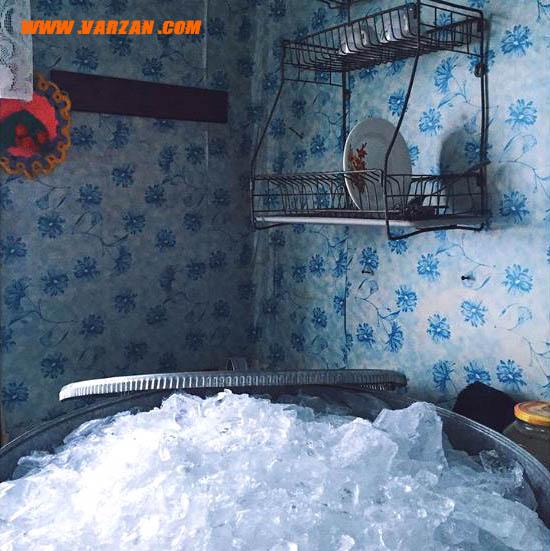 منبع آب روان پاک به دلیل دمای بسیار سرد وجود ندارد.