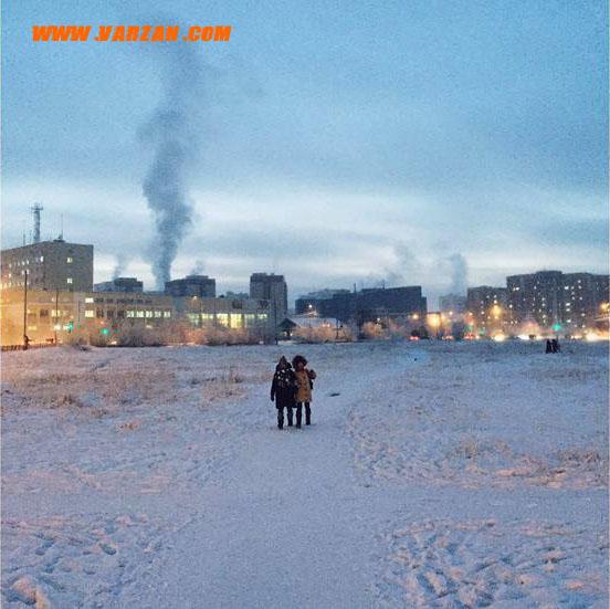 در یاکوتسک روسیه در طول زمستان تنها 5 ساعت نور خورشید وجود دارد.