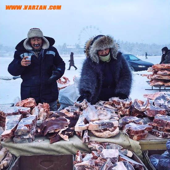 بازار کشاورزی در یاکوتسک روسیه