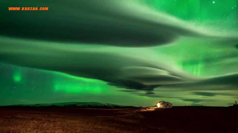 روشنایی های شمالی روی ایسلند