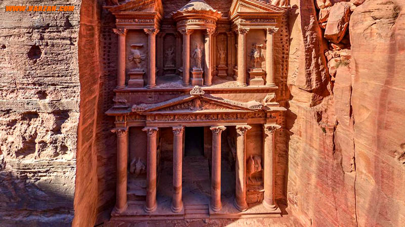 پترا (Petra)، اردن (Airpano/Caters News Agency)