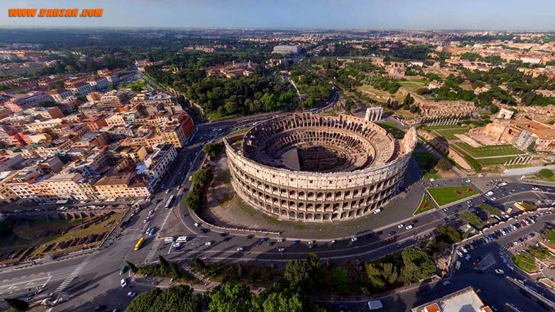 کولوسیوم (Colosseum)، رم، ایتالیا (Airpano/Caters News Agency)